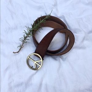Accessories - Leather Peace Belt